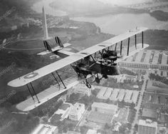 Airplane Aerial Photography July 1919 Vintage 8x10 Reprint Of Old Photo