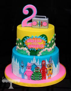 Yo Gabba Gabba Cake by Cuteology Cakes www.facebook.com/i.love.cuteology.cakes