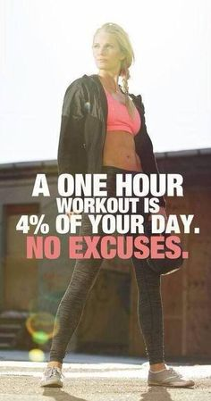 Give up excuses and work it out. #FitnessPictures