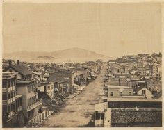 San Francisco, 1856. Photo by unknown. View down Stockton Street.