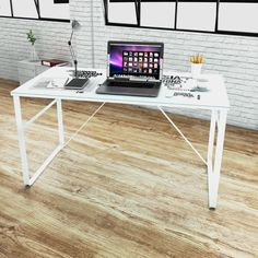 #Office #Computer #Desk #Glass #Writing #Table #Iron #Legs #Map #Print #Workstation #Study