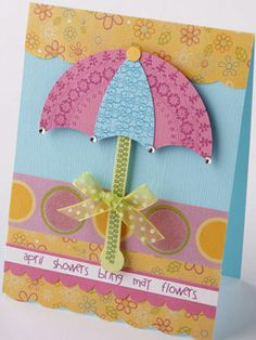 Use a Variety of Patterned Papers to Make a Spring Greeting Card
