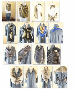 from Cawaii Onepi-c mail magazine ~~ how to wear scarf