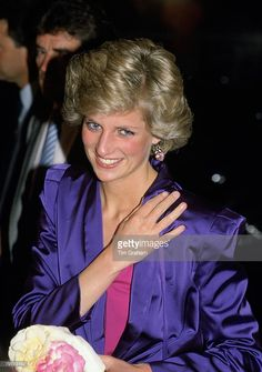 News Photo : Diana, Princess of Wales attends a rock concert...