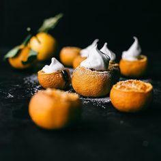 Baked Satsumas with Orange Liquer & Coconut Cream // The Artful Desperado. Get this recipe and 30+ more of our favorite vegan dessert recipes at feedfeed.info/vegan-desserts