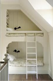 I love these built in kids bed ideas