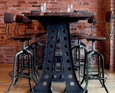 Image result for industrial kitchen table