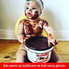 Nutella my Bella Chocolate Humor, Chocolate Lovers, Funny Babies, Funny Kids, Nutella Funny, Candy Photography, Comedy Pictures, Funny Share, I Want A Baby