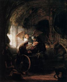 Rembrandt, Tobit is Healed by his Son, 1636
