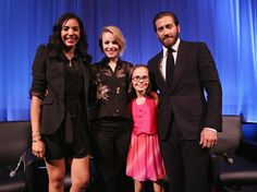 Moderator Nina Terrero with actors Rachel McAdams, Oona Laurence and Jake Gyllenhaal attend an official Academy screening of SOUTHPAW hosted by The Academy Of Motion Picture Arts and Sciences on July 2015 in New York City. Oona Laurence, Gorgeous Body, Jake Gyllenhaal, Rachel Mcadams, Future Husband, Hot Guys, Handsome, Science, Actors
