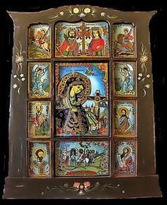 Icoana pe sticla  -  Praznicar  - Virgin Mary, Religious Art, Byzantine, Holy Spirit, Madonna, Holi, Renaissance, Religion, Gallery Wall