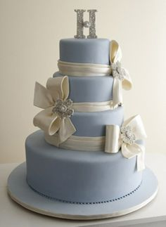 Wedding Cake Avenue - I think if you had a white cake with bright pink ribbon & the bling...