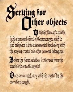 Book of Shadows:  Scrying for Other Objects. (All of charmed spells here)