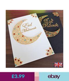 Rallyartz Cards & Stationery Home, Furniture & DIY Diy Eid Cards, Eid Greeting Cards, Origami Cards, Eid Crafts, Ramadan Crafts, Ramadan Decorations, Eid Ramadan, Eid Mubarek, Eid Envelopes