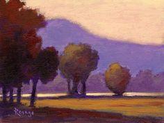 """""""Last Light""""...Blue Ridge Mountains... NC Landscape... Daily painting by Bernie Rosage Jr... 6x8"""" acrylic"""