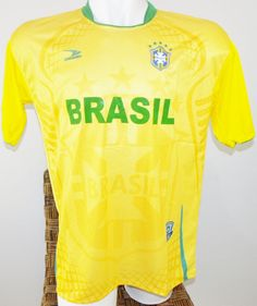 BRAZIL SOCCER JERSEY T-SHIRT DRAKO FÚTBOL ONE SIZE L FOOTBALL WORLD CUP BRASIL