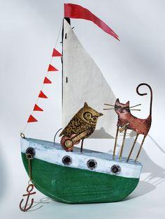 Large owl & pussycat