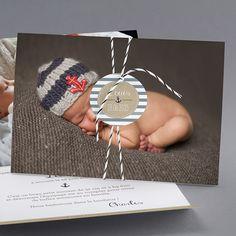 Faire-part de naissance personnalisés, faire-part marin fpc Diy Cards, Washer Necklace, Crochet Earrings, Crochet Hats, Accessories, Mousse, Card Ideas, Sailor, Pregnancy
