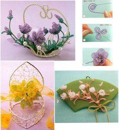 украшение цветами из бисера