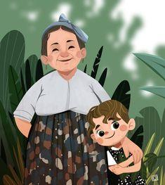 Children's Book Illustration, Character Illustration, Watercolor Illustration, Cartoon Grandma, Character Concept, Character Design, Cartoon Pics, Illustrations And Posters, Cute Drawings