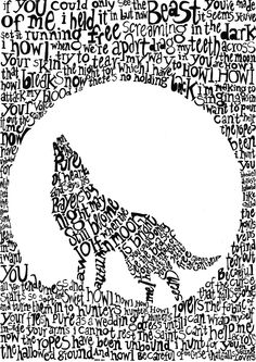 """Howl - The Illustrated Mixtape.    Using double imagery and type design this illustration explores the themes in Florence and the Machine's lyrics, """"Howl"""""""
