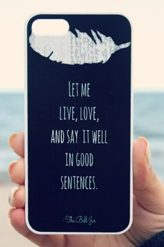 I NEED THIS The Bell Jar iPhone Case Black - Quote iPhone Case 4/4S/5 - Literary iPhone Case - Word Art  - Typography iPhone Case