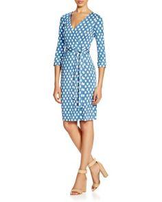 DIANE von FURSTENBERG New Julian Two Dotted Silk Wrap Dress | Bloomingdale's
