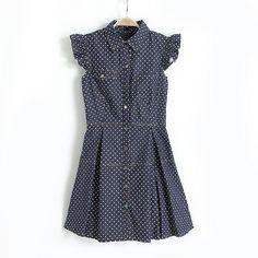 Roseandpose new in poka-dot jean dress!