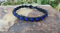 Check out this item in my Etsy shop https://www.etsy.com/listing/271156018/mens-hemp-bracelet-blue-sea-glass-beads