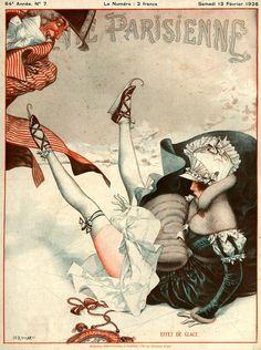 Chéri Hérouard (1881-1961). Effet de Glace . La Vie Parisienne, 13 Février 1926. [Pinned 25-i-2015]