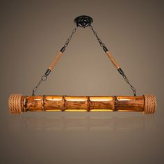 Corda de cânhamo de Bambu Luz Pingente Lustres País da América Do Vintage LEVOU Lâmpada Pendurada Edison Luminária Suspensão Luminária