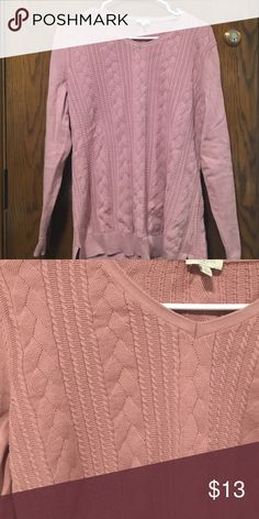 DONATING TOMORROW Talbots pink sweater size L Only worn a few times! Talbots Sweaters Crew & Scoop Necks