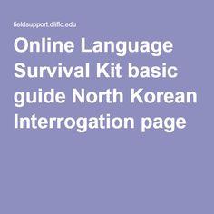 Online Language Survival Kit basic guide North Korean Interrogation page 6
