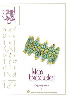 Bracelet  tutorial / pattern Max with superduo beads ..PDF instruction for personal use only