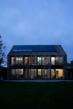 """French studio Karawitz Architecture has designed the Passive House project, the first house near Paris to receive the european labeled certification """"Passiv Haus Institut.""""  Completed in 2009, this 1,905 square foot two story contemporary home is located in the city of Bessancourt, North of Paris, France."""