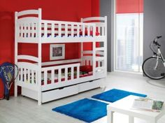 Buy bunk bed loft bed cot double bed LILLI cm harmlessly painted at Hood. Bunk Beds With Storage, Cool Bunk Beds, Kids Bunk Beds, Triple Bunk Beds, Double Beds, House Painting Services, Bedroom Furniture, Bedroom Decor, Homes