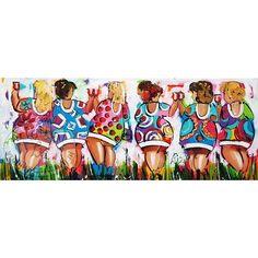 "Schilderij "" Party time "" 120 x 50"