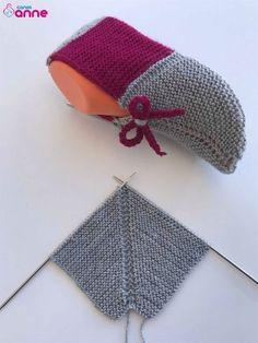 İki şiş en kolay patik modeli yapılışı Making the easiest booties model of two skewers Making the easiest booties model of two skewers We offer the easiest booties model for you with video narration. Knitting Designs, Knitting Patterns Free, Free Knitting, Knitting Projects, Knitting Socks, Baby Knitting, Crochet Projects, Crochet Patterns, Knitted Booties