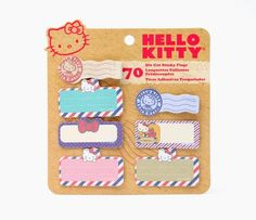 Hello Kitty Sticky Die Cut Flags: Air Mail. http://www.sanrio.com/