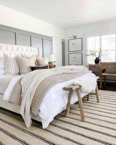 Master Bedroom Design, Dream Bedroom, Home Decor Bedroom, Bedroom Ideas, Dream Rooms, Neutral Bedroom Decor, Farmhouse Master Bedroom, Bedroom Wall, My New Room