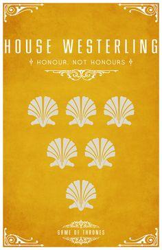 House Westerling. Game of Thrones house sigils by Tom Gateley. http://www.flickr.com/photos/liquidsouldesign/sets/72157627410677518/