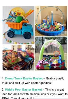 Easter basket idea to do at least once for the kiddos several instead of grabbing the same old wicker easter basket from the store switch it up this year negle Gallery