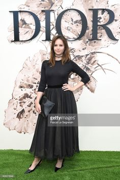 Felicity Jones attends the Christian Dior Haute Couture Fall/Winter 2017-2018 show as part of Haute Couture Paris Fashion Week on July 3, 2017 in Paris, France.