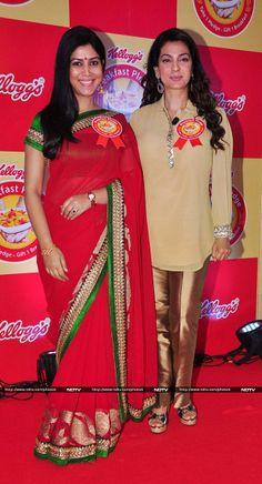 Sakshi Tanwar and Juhi Chawla