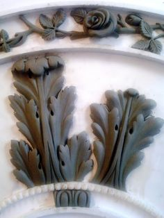 Custom Floral Ornament Surrounding Acanthus Leaf.