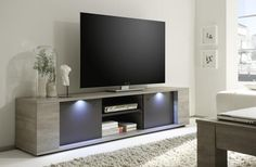 Sidney Collection Large TV Unit with LED Spotlights | TV & media units