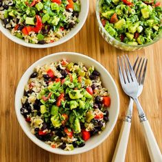 brown rice, rice bowls, black beans, bell peppers, slow cooker, vegan mexican, vegan brown, salsa recipes, vegetarian recipes
