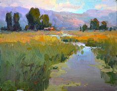 """Quiet Morning"" - Original Fine Art for Sale - © Tonya Zenin Paintings I Love, Beautiful Paintings, Landscape Art, Landscape Paintings, Impressionist Paintings, Plein Air, Art Techniques, Painting Inspiration, Watercolor Art"