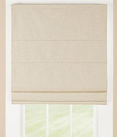 Linen Lined Roman Shade by Country Curtains - Pinned from iCatalog™