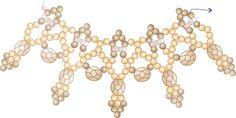 http://sandrahalpennybeading.blogspot.ca/2015/06/burnish-lace-necklace-free-pattern.html